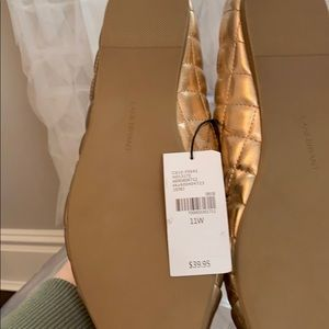 Lane Bryant Shoes - Quilted Gold Flats